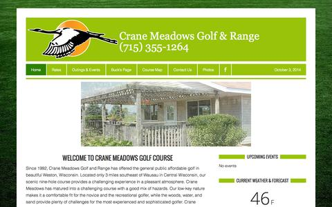Screenshot of Home Page golfcranemeadows.com - Crane Meadows Golf & Range — - captured Oct. 3, 2014