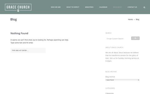 Screenshot of Blog graceinracine.com - Blog – Grace Church - captured Sept. 25, 2018