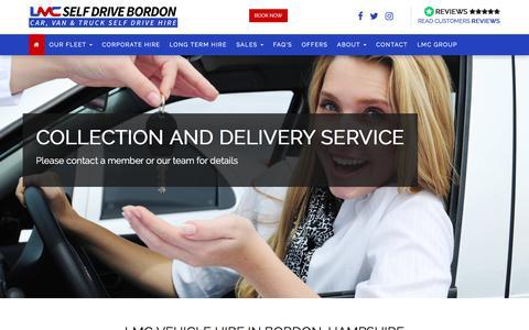 Screenshot of Home Page lmcvehiclehire.co.uk - Van Hire in Bordon, Car Rental in Alton Hampshire | LMC Hire - captured Oct. 10, 2017