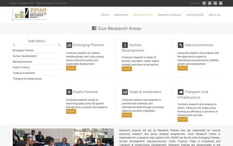 Screenshot of Services Page zipar.org.zm - Research Work - Zambia Institute for Policy Analysis and Research - captured Oct. 19, 2018