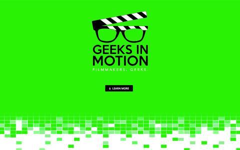 Screenshot of Home Page geeksinmotion.net - Geeks in Motion - captured July 12, 2016