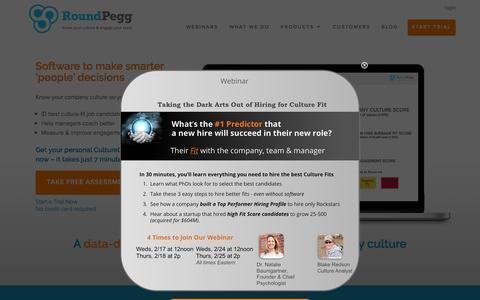 Screenshot of Home Page roundpegg.com - Home   RoundPegg - captured Feb. 17, 2016