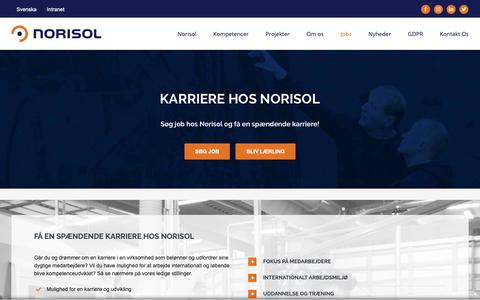 Screenshot of Jobs Page norisol.com - Jobs | Norisol - captured Dec. 21, 2018