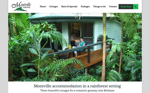 Screenshot of Home Page montvillegrove.com.au - Montville accommodation for a romantic escape near Brisbane - captured Oct. 10, 2015
