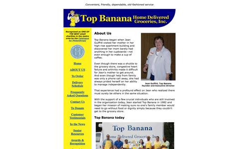 Screenshot of About Page topbananagrocer.org - About Us | Top Banana Home Delivered Groceries - captured June 22, 2016
