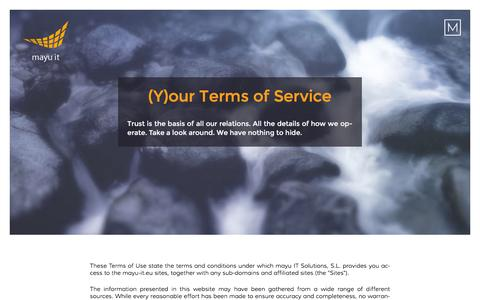 Screenshot of Terms Page mayu-it.eu - mayu IT Solutions | Legal advice about the use of our website - captured Feb. 17, 2016