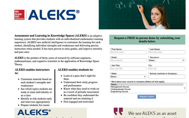 ALEKS | McGraw Hill Education