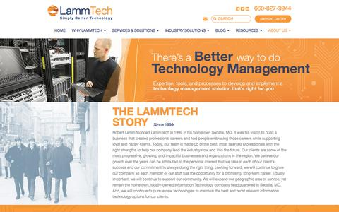 Screenshot of About Page lammtech.com - About Lammtech - Managed IT Solution Company - captured July 15, 2018