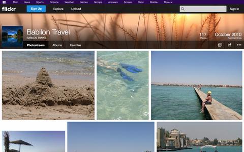 Screenshot of Flickr Page flickr.com - Flickr: BABILON TRAVEL's Photostream - captured Oct. 23, 2014