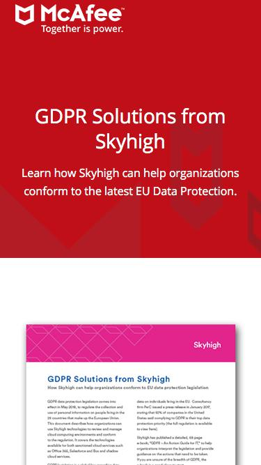 GDPR Solutions from Skyhigh