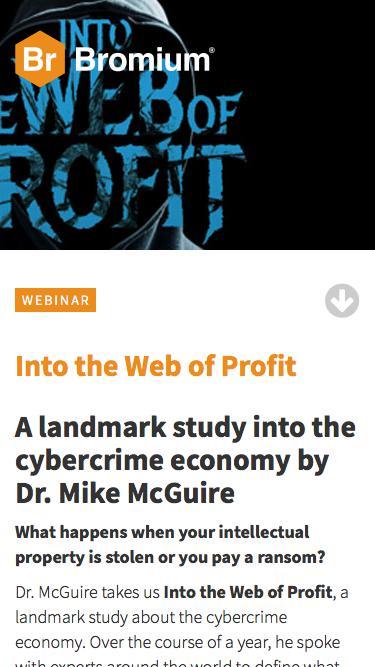 Live Webinar: Into the Web of Profit - Registration