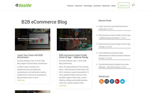 Screenshot of Blog insitesoft.com - B2B eCommerce Trends | Insite Software Blog - captured Nov. 14, 2018