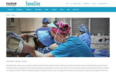 Screenshot of About Page sonosite.com - Ultrasound Company Information | US | SonoSite - captured Sept. 14, 2016