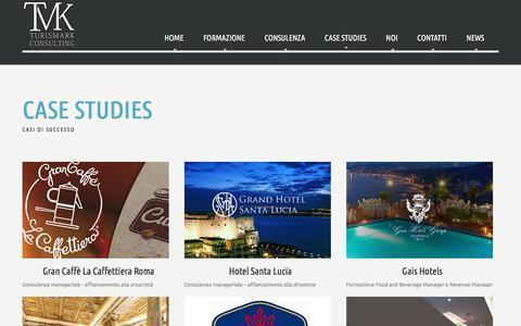 Screenshot of Case Studies Page turismark.com - Case Studies - captured Jan. 12, 2016