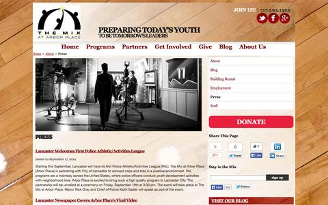 Screenshot of Press Page arborplace.org - Press   About   The Mix at Arbor Place - captured Nov. 4, 2014