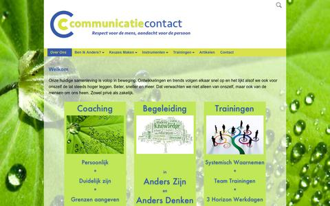 Screenshot of Home Page communicatiecontact.nl - Communicatie & Contact VOF | Respect voor de mens, aandacht voor de persoon - captured Sept. 18, 2015