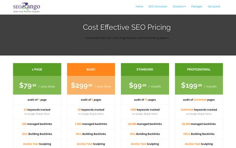 Screenshot of Pricing Page seorango.com - SEO Pricing: Monthly Cost Effective SEO in Dallas Tx - captured Nov. 17, 2016
