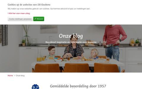 Screenshot of Blog dbkeukens.nl - Inspiratie krijgen over keukens? Lees onze blog! - DB Keukens - captured Dec. 18, 2018