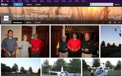 Screenshot of Flickr Page flickr.com - Flickr: Wake Forest Chamber of Commerce's Photostream - captured Oct. 27, 2014