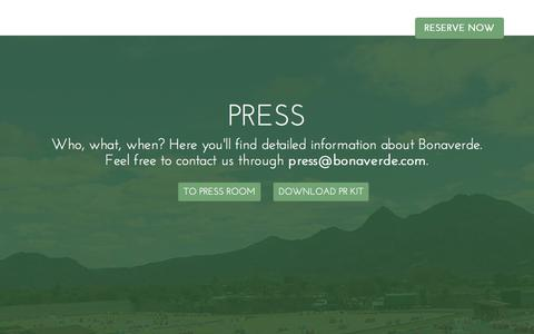 Screenshot of Press Page bonaverde.com - Bonaverde - captured Sept. 23, 2014