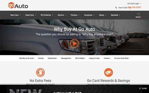 New & Used Vehicles in Edmonton|Canada's Top Group of Dealerships| Go Auto | Go Auto