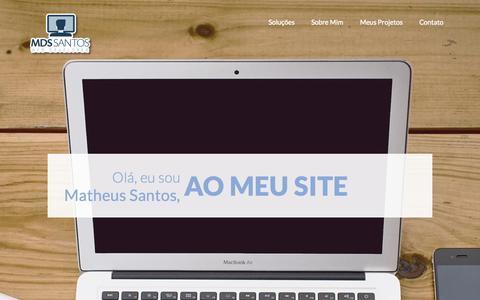 Screenshot of Home Page mdssantos.com.br - MDS SANTOS | Site Pessoal - captured Sept. 6, 2015