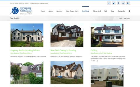 Screenshot of Case Studies Page allweathercoating.co.uk - Case Studies Archives - All Weather Coating - captured May 29, 2017