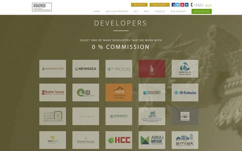 Screenshot of Developers Page b2b-egy.com - B2B - Developers - captured Oct. 3, 2014