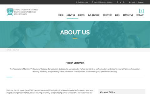 Screenshot of About Page acpwc.com - About Us – ACPWC - captured May 6, 2017