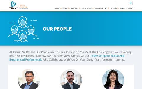 Screenshot of Team Page trianz.com - Our People | Trianz - captured Sept. 22, 2018