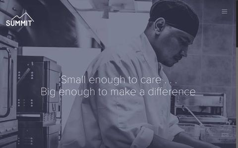 Screenshot of About Page summitfoodservice.com - About | Summit - captured Nov. 10, 2017