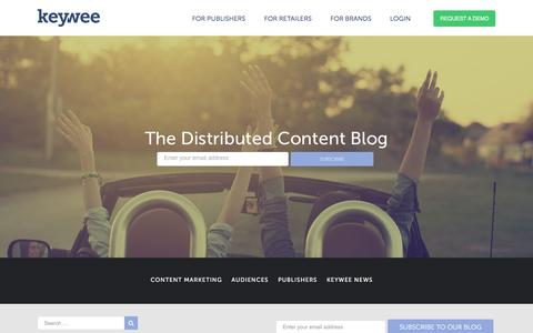 Screenshot of Blog keywee.co - Blog – Keywee - captured July 4, 2016