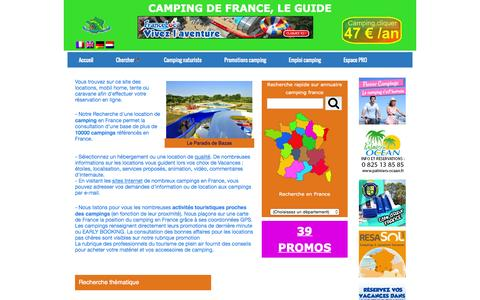 Screenshot of Home Page campingdefrance.com - Camping de France - guide camping - captured Oct. 16, 2015