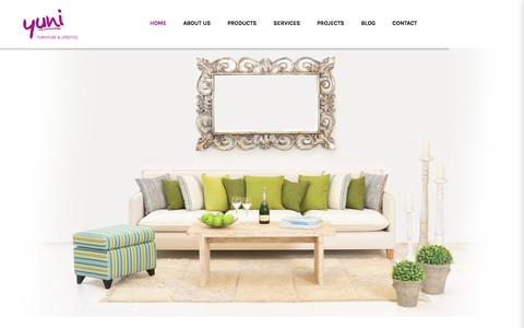 Screenshot of Home Page yuni-furniture.com - Yuni - Furniture & Lifestyle - captured Oct. 4, 2017