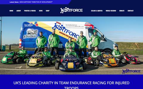 Screenshot of Home Page kartforce.org - KartForce – You don't need all of your limbs to race, just british bulldog spirit! - captured June 9, 2017
