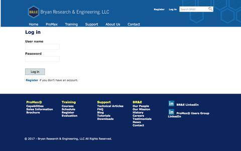 Screenshot of Login Page bre.com - Log in - captured Oct. 11, 2017