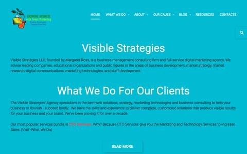 Screenshot of Home Page visible-strategies.com - Visible Strategies | Leading digital marketing agency, business consulting firm. National headquarters Atlanta GA - captured Oct. 20, 2018