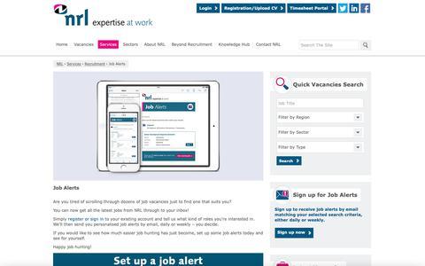 Screenshot of Signup Page nrl.co.uk - Job Alerts - NRL - captured Nov. 7, 2018