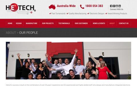 Screenshot of Team Page hetech.com.au - Our People - Hetech - captured Jan. 22, 2016