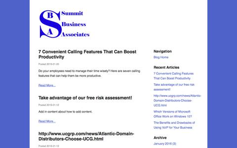 Screenshot of Blog summitbiz.net - Blog | Summit Business Associates - captured Feb. 16, 2016