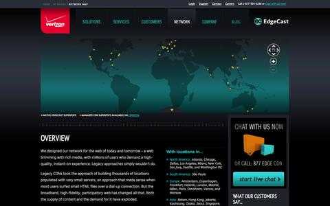Screenshot of Maps & Directions Page edgecast.com - CDN Locations | EdgeCast - captured Sept. 16, 2014