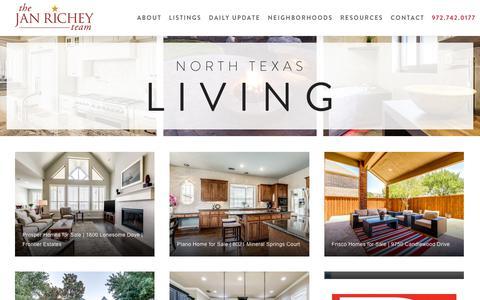 Screenshot of Blog janrichey.com - Real Estate News Dallas TX | Blog | The Jan Richey Team - captured Oct. 18, 2018
