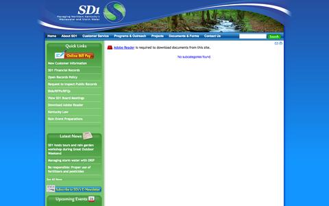 Screenshot of Developers Page sd1.org - Sanitation District NO. 1 of Northern Kentucky - captured Sept. 30, 2014