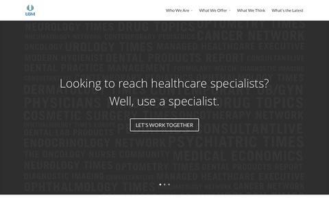 Screenshot of Home Page ubmmedica.com - UBM Medica Media Kit | - captured Jan. 23, 2016