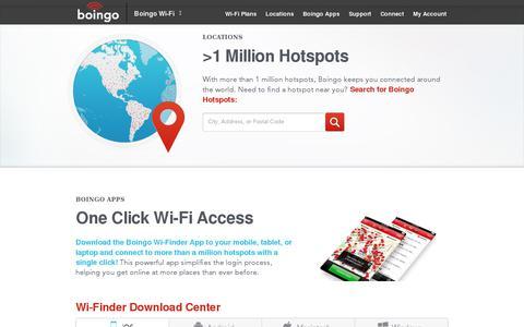 Screenshot of Locations Page boingo.com - Boingo Wi-Fi - captured July 20, 2014