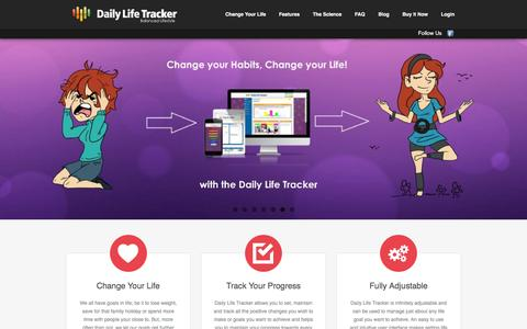 Screenshot of Home Page dailylifetracker.com - Daily Life Tracker - captured July 8, 2016