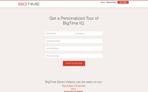 Request a Demo | BigTime Software
