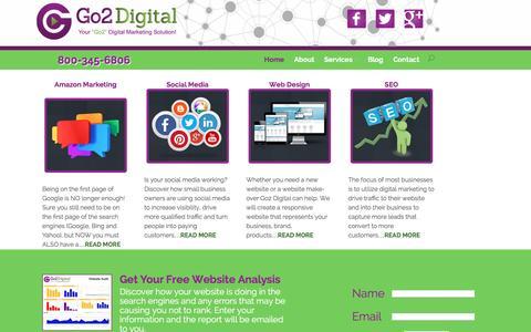 Screenshot of Home Page go2digitalmarketing.com - Go2 Digital | Reputation Marketing, Social Media, Web Design, & SEO - captured Dec. 10, 2015