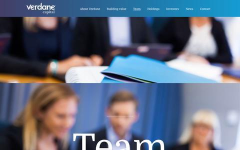 Screenshot of Team Page verdanecapital.com - Team - Verdane Capital - captured Jan. 16, 2016