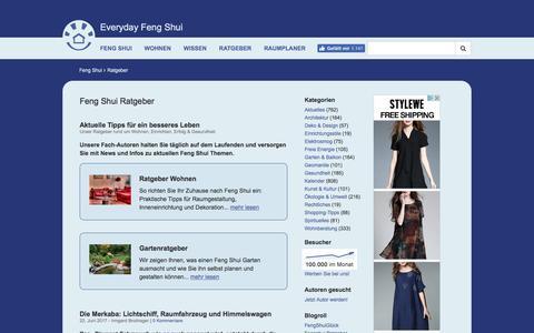 Screenshot of Press Page everyday-feng-shui.de - Feng Shui Ratgeber & Aktuelles - Everyday Feng Shui - captured June 25, 2017